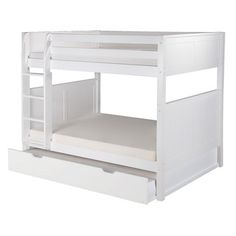Camaflexi Camaflexi Full over Full Bunk Bed with Trundle and Panel Headboard
