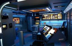 Here is the Star Trek-Themed Apartment you've always wanted! Star Trek, is an American science fiction entertainment franchise created by Gene Roddenberry. Star Trek Voyager, Star Wars Furniture, Science Fiction, Nerd Cave, Unusual Homes, Fancy, Flats For Sale, Bedroom Themes, Kids Bedroom