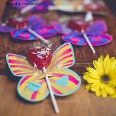 FREE butterfly lollipop holder printable valentine