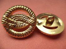 10 Knöpfe gold 20mm (109-2) Jackenknöpfe Knopf