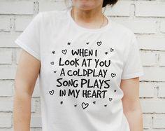 coldplay shirt – Etsy