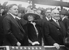 Hoover and Harding at baseball game - United States Department of Commerce - Wikipedia American Presidents, Us Presidents, Herbert Hoover, Campaign Slogans, Franklin Delano, Economic Analysis, Federal Budget, Federal Agencies