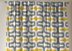 TWO rod curtains drapery panels window treatment by EllaSeeh, $90.00