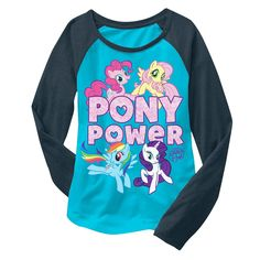 Hasbro My Little Pony Girls' Long Sleeve T-Shirts Turquoise XS, Girl's