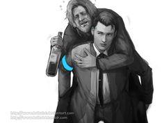 Connor carried drunken Hank