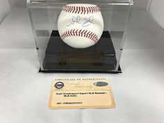 Noah Syndergaard Autographed Signed MLB Baseball New York Mets Steiner Sports COA Hologram With Display Case