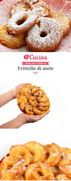 Frittelle di mele Mug Recipes, Sweet Recipes, Cooking Recipes, Sweet Desserts, Delicious Desserts, Apple Deserts, Carnival Food, Pastry Shop, Creative Food