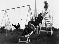 Children play at St. George's Island, site of Calgary's first playground circa 1912-1913. Photo courtesy of the City of Calgary.