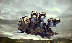 """ronbeckdesigns: """" Thunderbolt Gunship render 3 by *Avitus12 on deviantART """""""