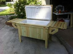 Pool side cooler - Woodworking creation by Angelo