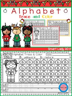 Alphabet Trace and Color (Christmas Edition)  This product we created to teach the students to learn to know the alphabet.  We make the product ALPHABET TRACE AND COLOR (Christmas Edition) in it you can find the letter A - Z as much as 26 pieces with coloring activity interesting picture, so student student can learn with joy.