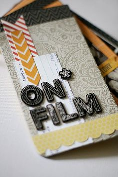 On Film minibook by. @Stephanie Close Wheeler Created with the March 2013 #cocoadaisykits Sketchbook