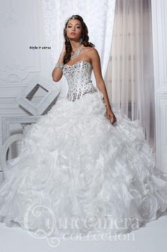 White Quinceañera Dresses! | Cute white dress, Wedding and Debutante