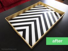 Gold, black and white Tray