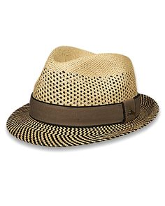 9c6a453de4ac1 Tommy Bahama - Two-Tone Vent Crown Panama Fedora Classic Hats