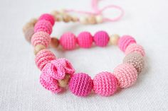 Nursing necklace for breastfeeding Mom Baby by NecklacesForMommy, $30.00