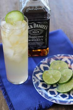 Tennessee Highball: 1.5 oz @jackdanielsus, 3 oz ginger ale. Garnish with lime.