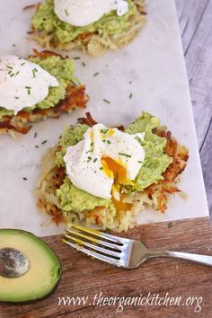 """Potato Avocado """"Toast"""" with Perfectly Poached Eggs 