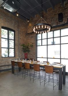 LEMAYMICHAUD | Le LocaL | Architecture | Design | Hospitality | Eatery | Restaurant | Dining Room | Custom Light | Lighting | Fine Dining | Chandelier | Windows |