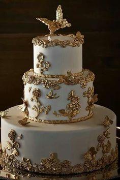 Torta de bodas de oro