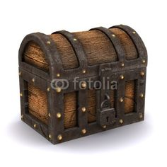 pirates wooden chest - Google Search