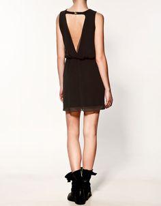 DRESS WITH ELASTICATED WAIST - Dresses - Woman - ZARA Bulgaria