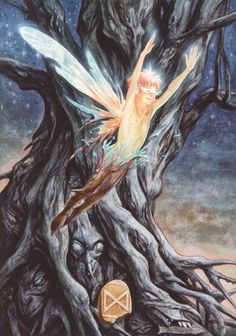 24 Dagaz - Emergence [the Runes of Elfland] - Brian Froud