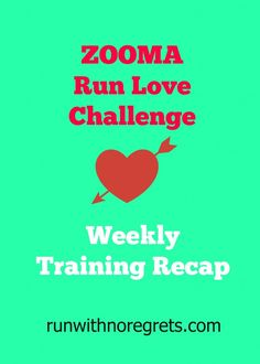 I'm currently joining the ZOOMA Run Love Challenge and training for a 10K this Valentine's Day! Check out my weekly recaps and more running tips on runwithnoregrets.com
