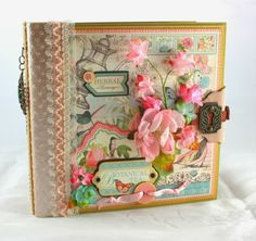 So Much Scrap: 8x8 Botanical Tea Mini-Album/PDF Tutorial