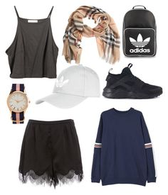 """""""Sun/Beach"""" by annadamr on Polyvore featuring beauty, MANGO, Burberry, Topshop, NIKE, Aéropostale and adidas Originals"""