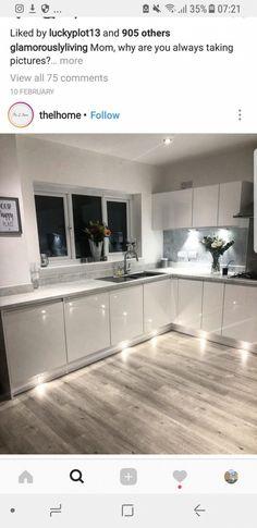 Kitchen lighting ideas remodel under cabinet Ideas Kitchen Room Design, Home Decor Kitchen, Kitchen Layout, Interior Design Kitchen, Home Kitchens, Kitchen Ideas, Cabinet Decor, Floor Decor, Kitchen Remodel