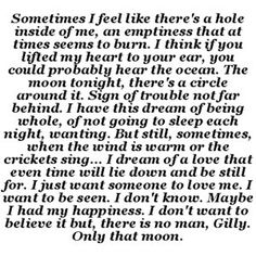 "Love this quote from ""Practical Magic""..."