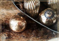 Kerstballen antiek brons koper sober landelijk ♥