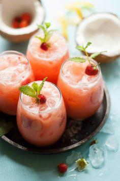 Strawberry Coconut Lemonade