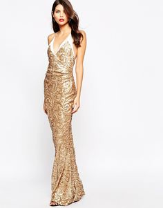 40f00ec9d70 The Crystal Collection by Vesper Odessy Sequin Maxi Dress