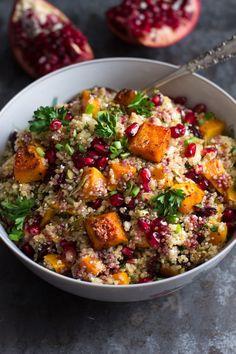 Roasted Butternut Squash Quinoa Salad - Food Fanatic