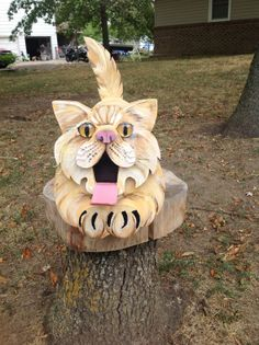 Cat's Meow Mailbox by MyCountryHaven on Etsy, $110.00