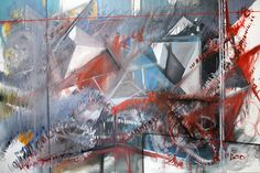 """Phillip Potter """"A TemporaryView of Infinite Perception #2"""" 30"""" x 22"""" Watercolor and Drawing Media On Paper"""