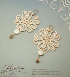 Kinari flowers Inspired by Kinari tatted jewels