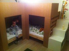 Lits superposés MYDAL avec aire de jeux - Bidouilles IKEA