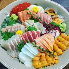Family gathering 2nd round #sashimi #ilovesashimi by vauxie