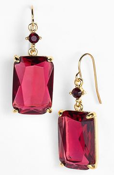 Smitten with these pink stone drop earrings.