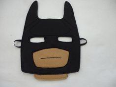 Hand finished lego inspired Batman mask/toy/dress by MummyHughesy