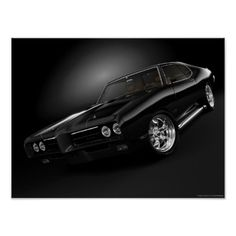 """this is a beautiful 1969 pontiac gto that has some 20"""" american racing wheels"""