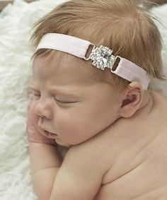 Love this Silver & Pink Simple Square Rhinestone Headband by Nest Of Many Colors on #zulily! #zulilyfinds