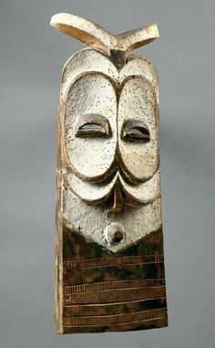 Africa | Mask from the Wabembé culture of the DR Congo | Wood, white paint