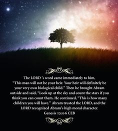Genesis 15:4-6