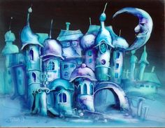 Suttogó tornyok, 50x65cm, olaj/polimetakrilát Fictional Characters, Art, Art Background, Kunst, Performing Arts, Fantasy Characters, Art Education Resources, Artworks