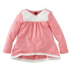 $29 Cute Eyelet Cotton Shirt For Little Girls | Tea Collection
