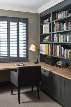 Home Study Rooms, Home Library Rooms, Home Library Design, Office Interior Design, Office Interiors, House Design, Modern Study Rooms, Small Study Rooms, Library Study Room